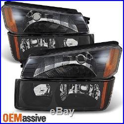 02-06 Avalanche Body Cladding Model Black Headlights + Bumper Signal Lights