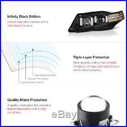 04-08 Acura TL HID Xenon Model LED Signal Neon Tube Projector Headlight Black