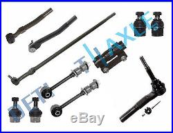 05-07 Ford F-250 Super Duty Front Upper&Lower Ball Joint Center Drag Link Kit4WD
