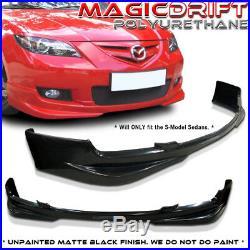 07-09 Mazda 3 Mazda3 4-Door Sedan Speed S-Model MS Front Bumper Lip (Urethane)