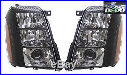 07-14 Cadillac Escalade Black Projector Headlight For Factory Xenon Models DEPO
