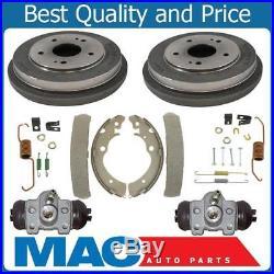 100% New Rear Brake Drums Shoes Spring Kit Wheel Cylinder for Honda CRV 97-01 6p