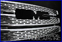 10-15 GMC TERRAIN CHROME Grille Overlay 3 Bar Grill Inserts Covers Denali Style