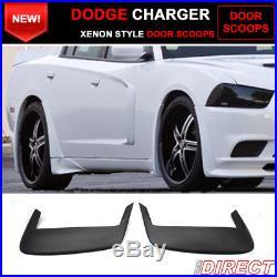 11-15 Dodge Charger EXcept Srt8 Model 2 Piece X Style Door Scoops Unpainted