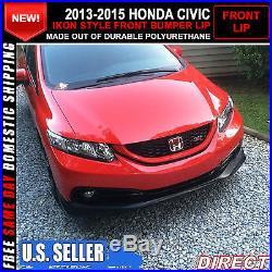 13-15 Honda Civic 4 Door Sedan Ikon Style Front Bumper Lip (Usdm Model)