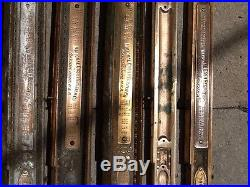 13 Antique Brass National Cash Register Parts NCR LOOK Patent Model Serial Tags