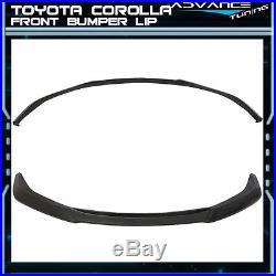 14-16 Toyota Corolla S Model GT Style Front Bumper Lips Spoiler Bodykit