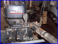 15hp YAMAHA OUTBOARD MOTOR 2000 MODEL SHORT SHAFT TILLER HANDLE FOR PARTS
