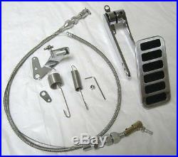 1930's 1940's Ford Chevy Street Rod Aluminum Gas Pedal + 24 Cable & Spring Set