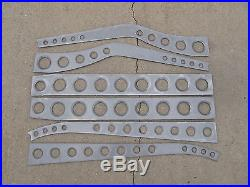 1932 Ford BELLED HOLES or DIMPLED DRILLED 1/8 Easy Weld Boxing Plates 32