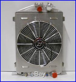 1932 Ford Street Rod Aluminum Radiator Hi/high Boy Shroud Fan Chevy Motor Relay