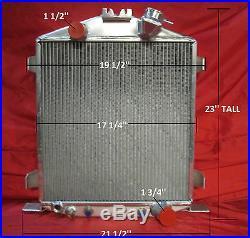 1932 Ford Street/rat Rod Aluminum Radiator Lo Boy, Low Boy Chopped Chevy Motor