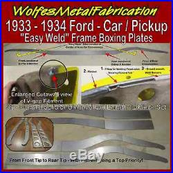 1933 1934 Ford Easy Weld SOLID Frame Boxing Plates 33 34 Chassis FULL