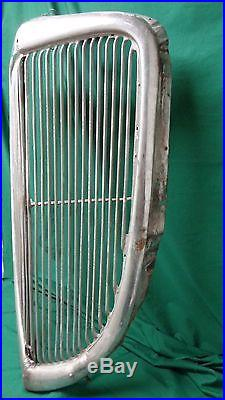 1934 Ford Grille, no pits in chrome, rat rod, hot rod, lots of patina