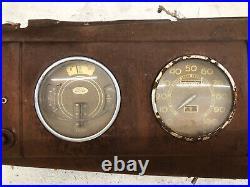 1938 1939 Ford dash speedometer gauges glove box door coupe sedan pickup V8 38
