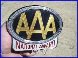 1950s Antique Automobile AAA Chrome Bumper License plate topper Vintage Ford MGB