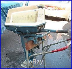 1959 EVINRUDE SPORTWIN 10 HP OUTBOARD MODEL 10018, RUNS EXCELLELLENT, NEW PARTS