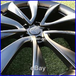 19 Tesla Model 3 Rims Wheels Oem Black 2019 set PERFECT GENUINE FACTORY