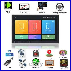 1DIN 10.1Quad-core Stereo Radio GPS Wifi Mirror Link MP5 Player Car Accessories