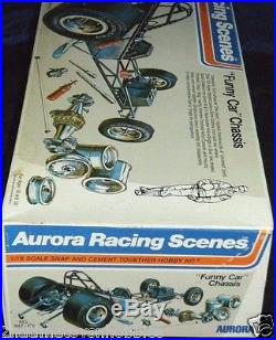 1/16 Aurora Racing Scenes Funny Car Chassis For Dragster Model Kit For Parts