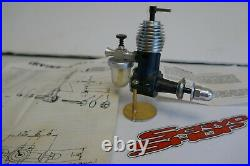 1x Irvine Mills Model Diesel Aircraft Engine withExtra Parts LR Tank, Washer, T Top
