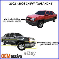 2002-2006 Chevy Avalanche Body Cladding Model Black Headlights Replacement Set