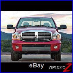 2006 Dodge Ram 1500 AMBER BAR MODEL Chrome Headlights Lamps 2006 Ram 2500 3500