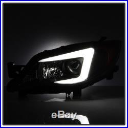 2008-2014 Subaru Impreza WRX HID/Xenon Model LED Light Tube Projector Headlights
