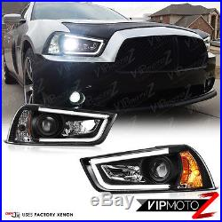 2011-2014 Dodge CHARGER Halo Angel Eyes LED Projector Black Headlight HID MODEL