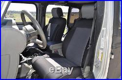 2013-2017 Jeep Wrangler Unlimited 4 Door Neoprene Seat Covers Set Black & Gray