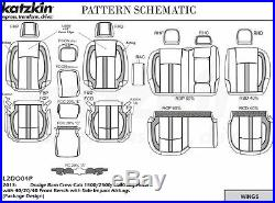 2013-2018 Ram Crew Cab 1500 2500 Katzkin Custom Leather Seat Replacement Covers