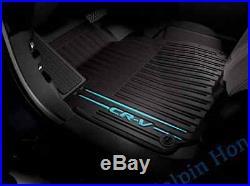 2017 2018 Genuine OEM Honda CR-V Black/Blue All Season Floor Mat Set