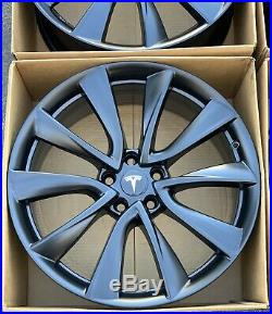 20 Tesla Model 3 Factory 20 Wheels OEM Rims 104422400A Satin Black