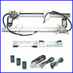 2 Door Flat Glass Power Window Kit Switches Street Rod Hot Rod Early Ford Chevy