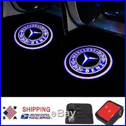 2x For Mercedes Benz LED Door Step Courtesy Light Laser Logo Projector Wireless