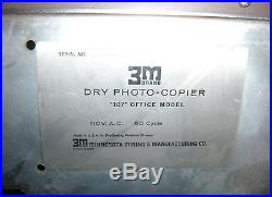 3M Dry Photo-Copier 107 Office Model for Parts or Repair