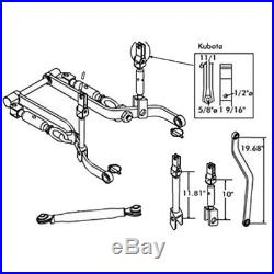 3 Point Link Hitch Kit Cat 1 For Kubota Compact B Series Tractor Models