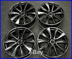 4 Factory Tesla Model 3 19 OEM Wheels Black Rims