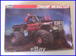 4x4 Chevy Pickup MONSTER Truck Swamp Monster 116 Scale Revell Kit Vtg 80s Model