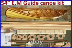 54 Canoe model kit, Deluxe Red Cedar parts, pine ribbing, easy to build
