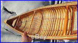 54 Canoe model kit. Easy to build, quality wood strips & parts