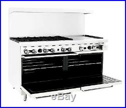 60 inch (5 foot) 6 Burner Range Top with Double 2 Oven and 24 Left side Griddle