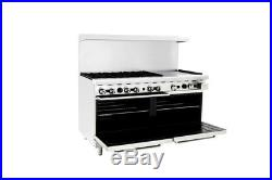 60 inch (5 foot) 6 Burner Range Top with Double Oven & 24 right side Griddle