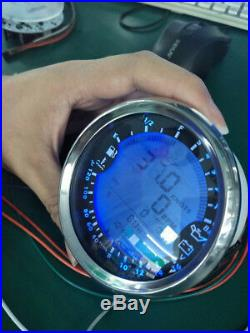 6in1 Car GPS Speedometer Tachometer Water Temp Oil Pressure Voltmeter Gauge 85mm
