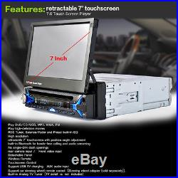 7'' HD Touch Screen 1DIN Bluetooth Car MP5 Player Stereo Radio FM DVD USB+Camera