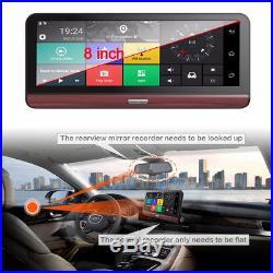 8 HD Wifi Bluetooth Car DVR Dual Cameras 4G Dash Cam Recorder+North America Map