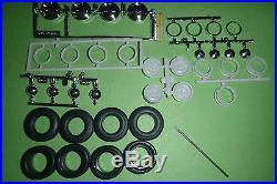 A40FSD SET TIRES PARTS MODEL 1/25 STEEL WHEELS LOW PROFILE MODEL CAR MOUNTAIN