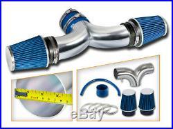 AIR INTAKE KIT+BLUE Dual Twin Filter For Dodge Ram1500 02-11 3.7L & 02-07 4.7L