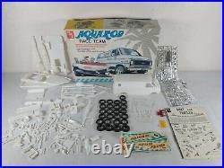 AMT Aquarod Race Team Chevy Van, Ski Boat and Trailer 125 Model Kit Parts Lot