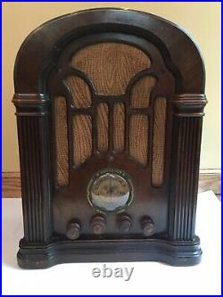 ATWATER KENT Model 206 Farm Radio, Nonworking, For Parts Or Restoration